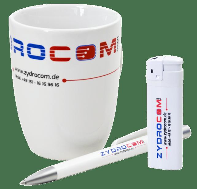 Werbeartikel, Tasse, Stift, Werbegeschenk