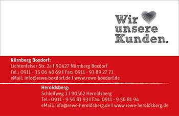 Visitenkarte Rewe Kneuer