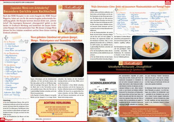 Doppelseite des Magazins