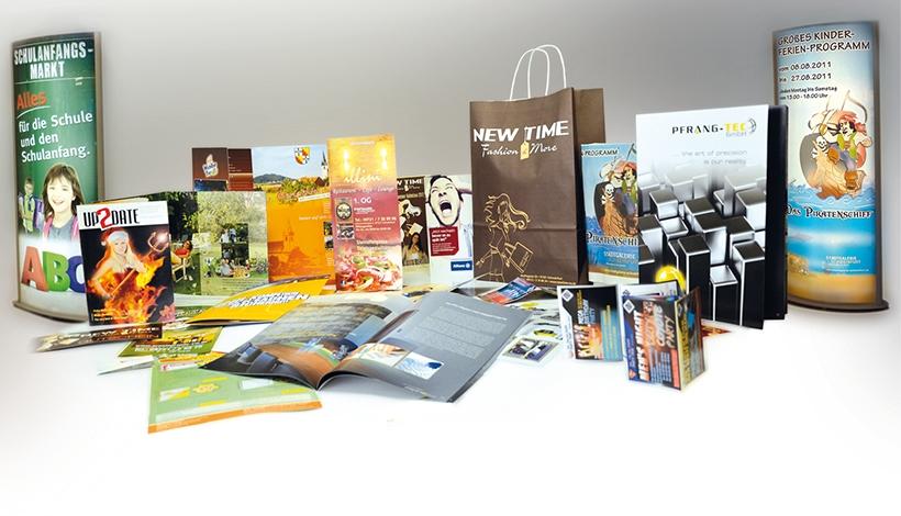 Print Design, flyer, Speisekarte, Faltflyer, Broschüre