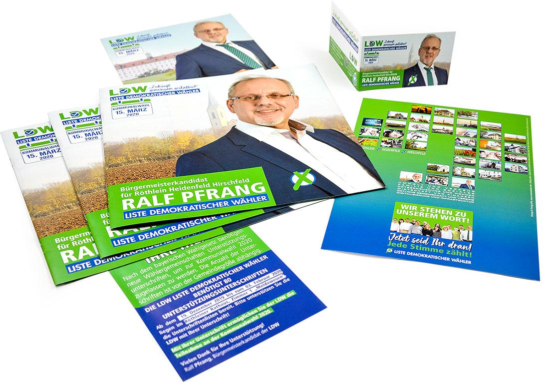 Kampagnengestaltung, Wahlbroschüre, Wahlplakate, Fotografie, Flyer