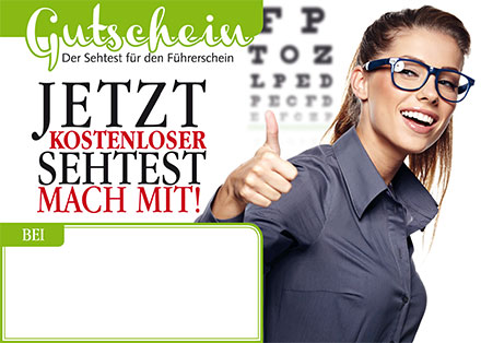 Flyer-Sehtest
