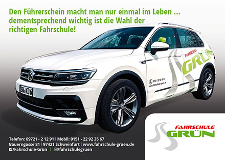 Imageflyer Fahrschule Grün