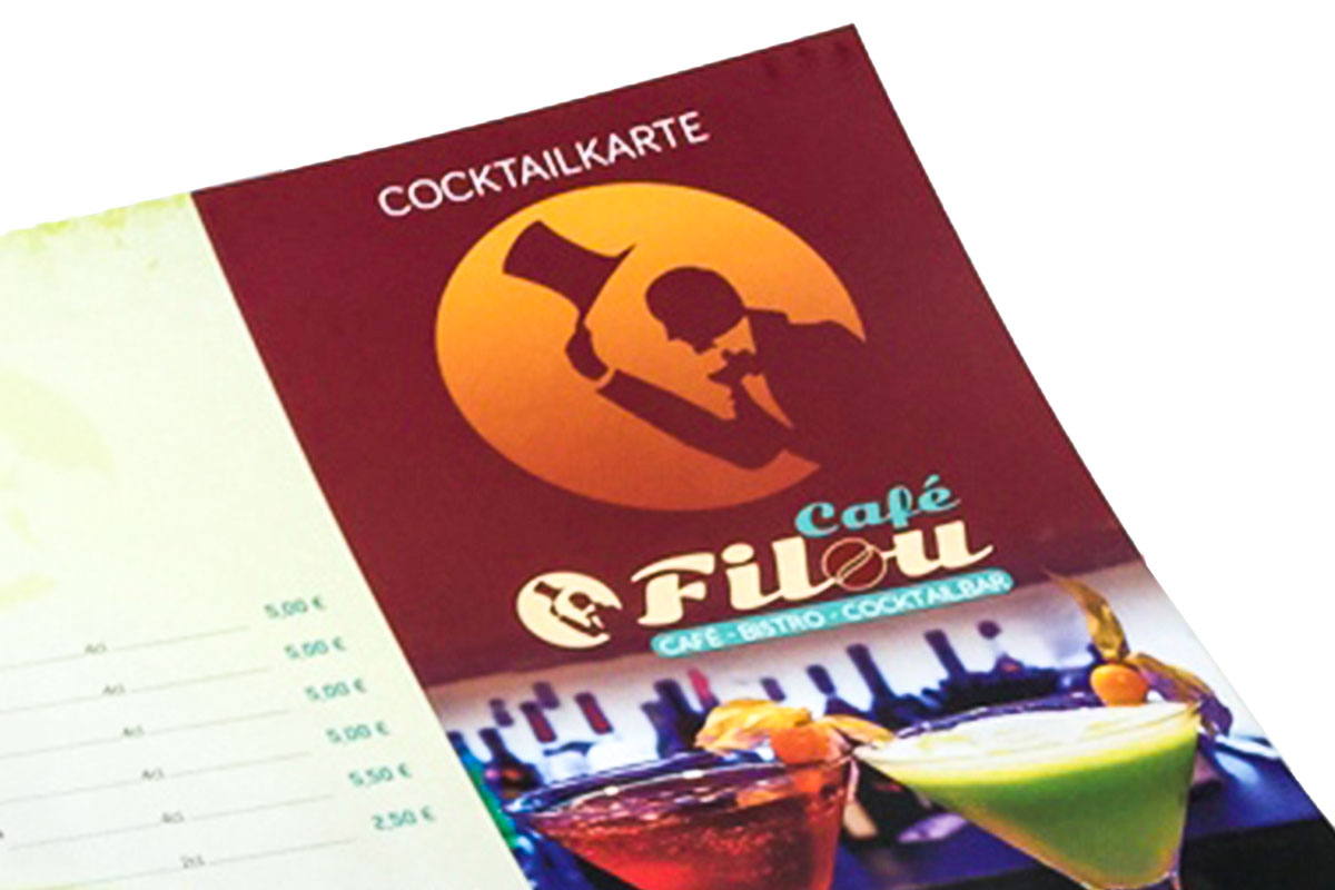 Cocktailkartengestaltung