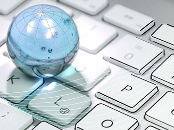 Webdesign - Webgestaltung. Weltkugel