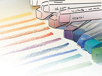 Illustration, Zeichnung, kreidefarben pastellfarben