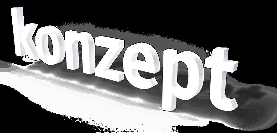 konzept-3D Schriftzug