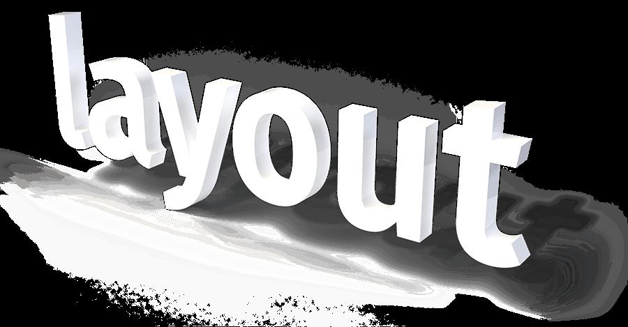 layout-3D Schriftzug